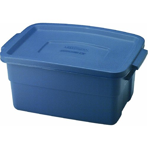 "Rubbermaid 3 Gallon Roughneck Storage Box 10.3"" x 7"" x 15.8 -  221300DIM"