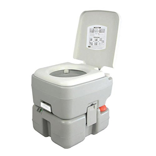 SereneLife Outdoor Portable Toilet with Carry Bag, Travel Toilet with Level indicator | | 3 Way...