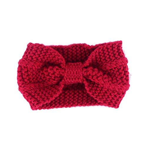 Wopam Vrouwen Gehaakte Hoofdband Knit Bow Haarband Winter Oor Warmer Hoofddoek