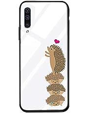 Suhctup Vidrio Templado Case Compatible con Samsung Galaxy Note 9 Funda Transparente Lindo Dibujos Cristal Templado Trasera Carcasa con Suave Silicona TPU Bumper Anti-Amarilla Cover,Erizos
