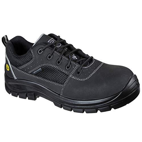 Skechers TROPHUS, Zapato Industrial Hombre, Black, 41.5 EU