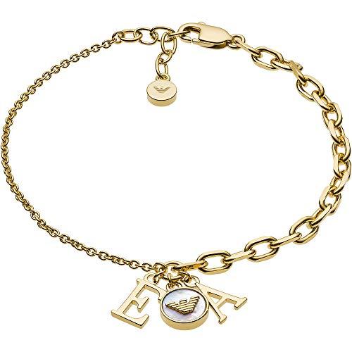 Emporio Armani EG3422710 Damen Armband Gold Weiß 19 cm