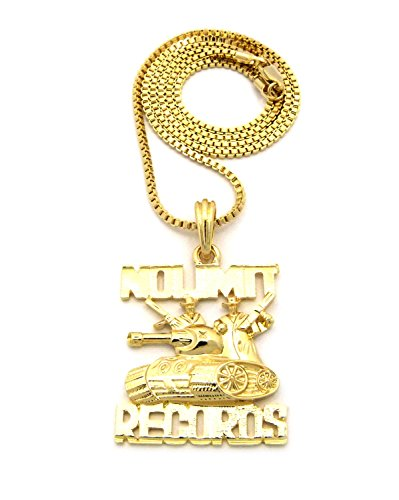 Crescendo SJ INC New NO Limit Records Pendant &2mm/24 Box Chain Hip HOP Necklace - XSP449BXG