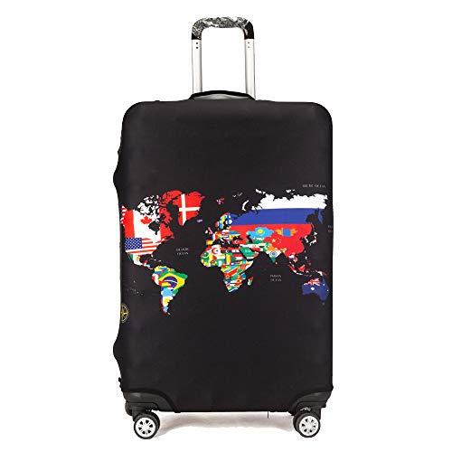 "Maddy\'s Home Elastica Suitcase Cover Proteggi bagagli luggage Cover,Pop Gatto (World Map, XL (Fit 29\""-32\"" suitcase))"