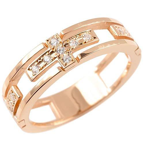 [アトラス]Atrus リング メンズ 18金 ピンクゴールドk18 キュービックジルコニア クロス 透かし 指輪 コントラッド 東京 28号