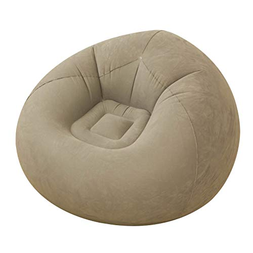 Beanless Bag Inflatable Chair, Air Sofa Outdoor Inflatable Lazy Sofa Chair,Washable Couch Bean Bag Chair Folding,for Organizing Plush Toys Or Memory Foam ---coffee color