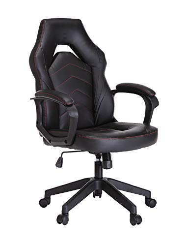 SMUGCHAIR Racing Gaming Chair Executive Bonded Leather Computer Office Chair with Adjustable Height and Padding Armrest