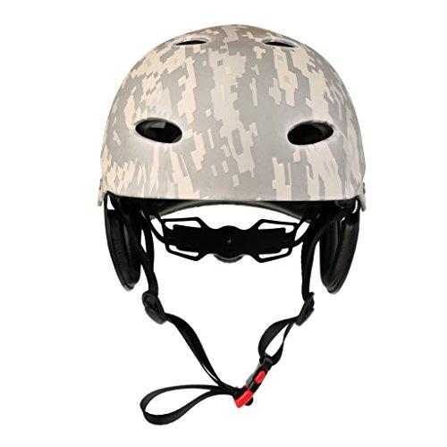 F Fityle Casco de Seguridad Premium, Protección para La Cabeza, Resistente a Los Impactos, para Wakeboard, Kayak, Piragüismo, Surf, Deportes Acuáticos, Deporte - Camo Digital