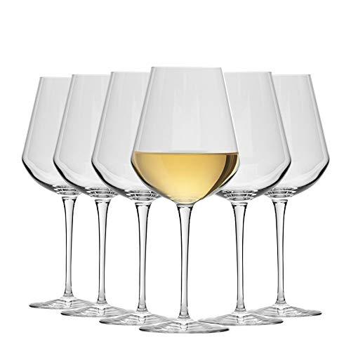 Bormioli Rocco Inalto UNO - Mittelgroße Weingläser - 470 ml - Set mit 6 Gläsern