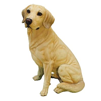 Design Toscano Golden Labrador Retriever Dog Garden Statue, 15 Inch