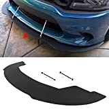 ECOTRIC Front Splitter Bumper Lip&2 Support Rods Compatible with 20-21 Dodge Charger Widebody Scat Packs and SRT Hellcats