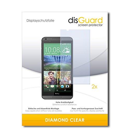 disGuard 2 x Bildschirmschutzfolie HTC Desire 820 Schutzfolie Folie DiamondClear unsichtbar