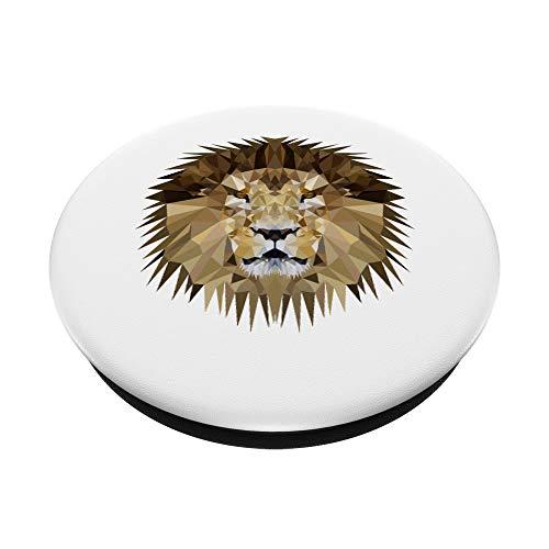 Löwe - Löwenkopf im Polygonstil - WPAP - Pop Art - PopSockets Ausziehbarer Sockel und Griff für Smartphones und Tablets