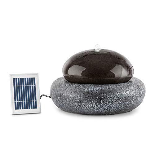 Blumfeldt Ocean Planet Fuente Solar - Bomba de 200 l/h / IPX8, Panel Solar fotovoltaico de 2 W / 300 cm², Batería de 8 h de duración / 3,7 V / 2 Ah, para Exteriores, Iluminación LED, Poliresin