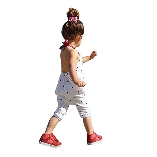 Bekleidung Longra Bekleidung Longra Kleinkind Kind Baby Mädchen Riemen Overalls Stück Hosen Rompers Jumpsuits Mädchen Sommerkleidung(1-6Jahre) (90CM 1-2Jahre, White)