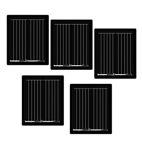 B Blesiya 5 Unids Mini Placa Solar de Carga Accesorios Portátiles y Ecológico para Deporte