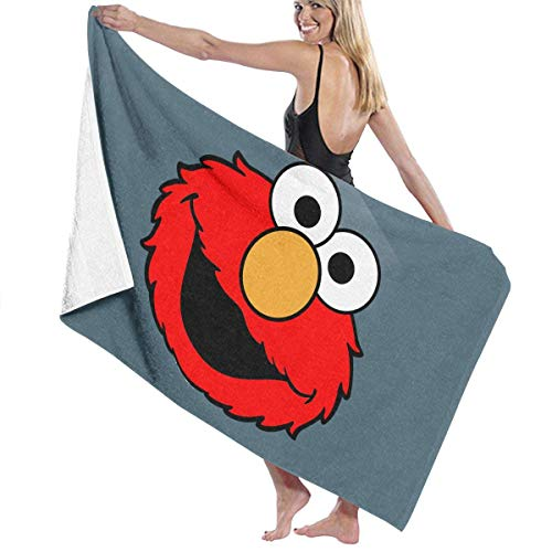 FERNMXZ Toalla de baño, Toallas de baño Elmo's World para Correr, superabsorbentes, para Playa, Gimnasio, Playa, SWM SPA