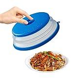 Olymajy Tapa Plegable para Microondas Tapa microondas Plegable Colador Cubiertas de Silicona para Microondas sin BPA para Proteger los Alimentos, para Lavar la Cesta de Drenaje de Frutas y Verduras