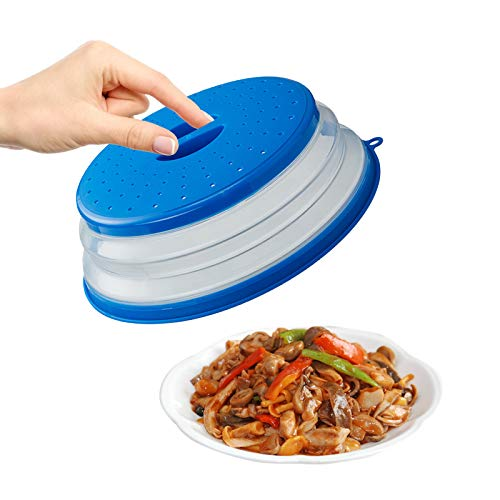Olymajy Copertura per Microonde Pieghevole Copertura Coperchio Antischizzi per Microonde Può essere utilizzato per lavare frutta e verdura nel cestello di scarico