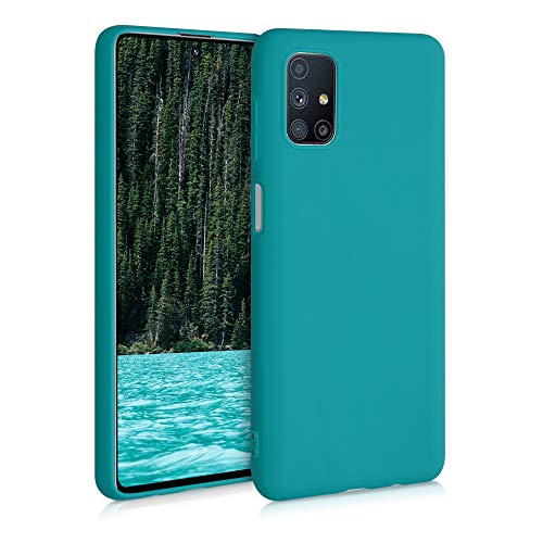 kwmobile TPU Silicone Case Compatible with Samsung Galaxy M51 - Soft Flexible Protective Phone Cover - Teal Matte