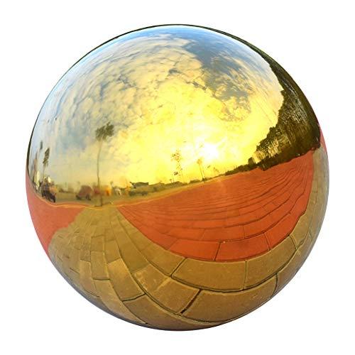 304 Edelstahl Hohlkugel Nahtlose Spiegel Kugel Kugel Hausgarten Gold - 150 mm