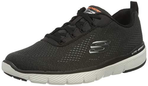 Skechers Herren Flex Advantage 3.0-232059 Sneaker, Schwarz (Black Mesh/Trim Blk), 43 EU (9 UK)