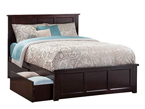 Atlantic Furniture Madison Platform Bed, Queen, Espresso