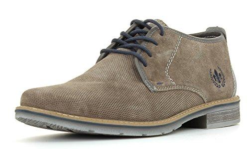 Rieker Herrenschuhe B3838 Herren Kurzstiefel, Stiefeletten, Boots, extra weiche Decksohle, weicher Schaftabschluss grau (dust/Stein / 42), EU 41