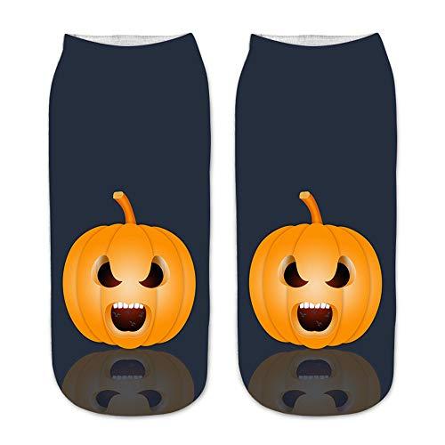 Unisex 3D Halloween Gedruckt Geschenk Sport Freizeit Socken Bequem Täglich Atmungsaktiv Gr. One size, A258 x 12 Paar.