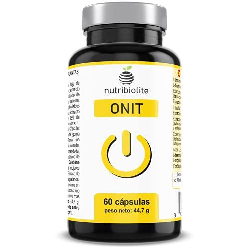 ONIT - Nootrópico Natural Potenciador Cognitivo, Incrementa tu Concentración Memoria y Motivación, Extractos de 5 Plantas + 5 Aminoácidos + Fosfatidilserina + Bitartrato de Colina, Vegano Sin Gluten