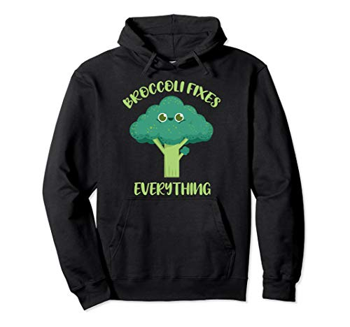 Broccoli Fixes Everything Veganer Pullover Hoodie