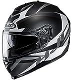 HJC Helmets Unisex– Erwachsene Nc Motorrad Helm, Schwarz/Weiss, XL