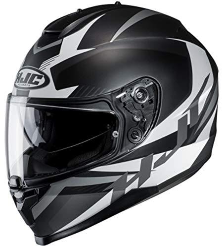 HJC Unisex– Erwachsene NC Motorrad Helm, Schwarz/Weiss, S