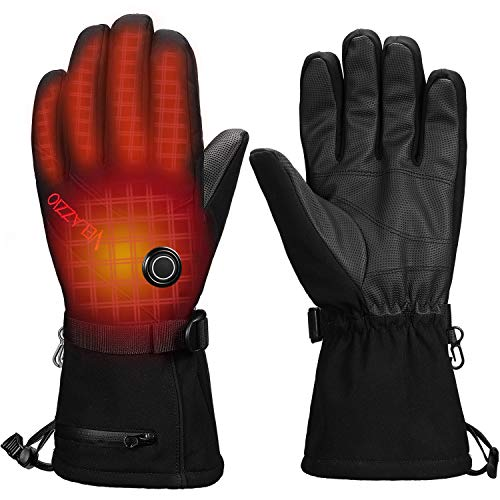[Upgrade] Velazzio Thermo1 Battery Heated Gloves - 3 Heating Levels w/ Intelligent Control, up to 8hrs Warmth, 3M Thinsulate...