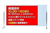 箱庭技研【業務用】飛沫防止アクリルスクリーンXL30-18090 幅1800x高さ900㎜ 金属スタンド 高さ調整可能