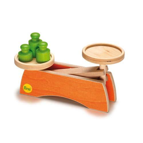 Erzi 10531 Waage aus Holz, Kaufladenartikel für Kinder, Kinderküche, Rollenspiele