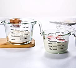 Double Spouts Coffee Glass Measuring cup with Handle 500 ml and 1000 ML 2 CUPS | Espresso Shot Mini | Liquid Heavy Sturdy ...