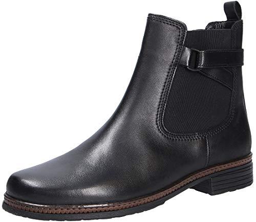 Gabor Damen Chelsea Boots 34.670, Frauen Stiefelette,Stiefel,Halbstiefel,Bootie,Schlupfstiefel,flach,schwarz,40 EU / 6.5 UK