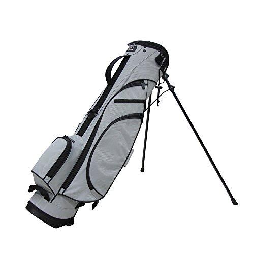 RJ Sports Typhoon Mini Stand Bag, Grey/Black, 6'