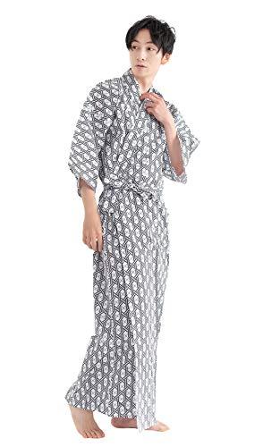 [キョウエツ]旅館浴衣2点セット(浴衣/共紐)メンズ(135,02(共紐付き))