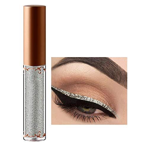 Líquido para maquillaje de ojos, 12 colores de delineador de ojos con brillos de diamantes con delineador metalizado brillante para ojos(# 4)