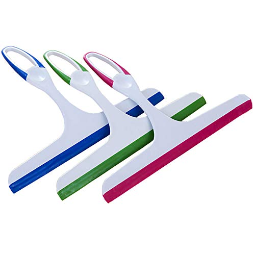 Shower and Window Squeegee, for Shower,Window and Car Glass,Multifunctional Glass Silicone Rubber Blade Scraping Window Squeegee Tool[3-Pack]