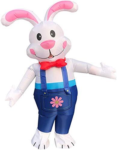 TBBE 160-190cm Cosplay Disfraces Conejo Conejo Fantasía Vestido Inflable Pascua Decoración Fiesta Suministros Carnaval Regalo Ropa