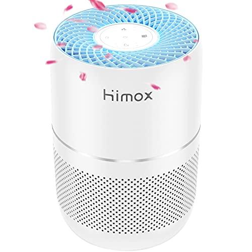 HIMOX Purificatore d'aria H13 True HEPA per Casa Uffici con Aromaterapia + Timer + Monitoraggio Intelligente Della...