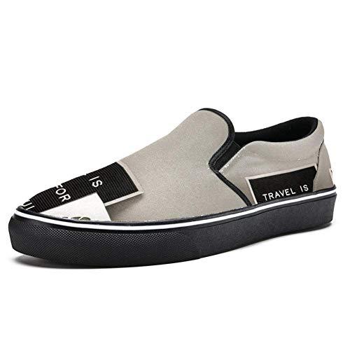 TIZORAX Pasaporte Taza Mini cámara Slip-on Mocasines para hombres y niños de lona a la moda zapatos de barco planos, color Multicolor, talla 36 2/3 EU