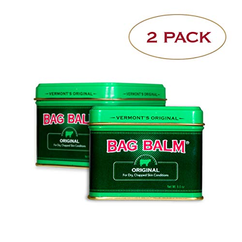 Vermont#039s Original Bag Balm Moisturizer For Dry Chapped Skin Conditions 8 Ounce TinTwin Pack