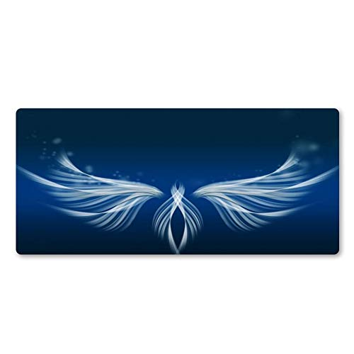 LKHJ Mouse Pad Witte Vleugels Art Mouse Pad Hoge Kwaliteit Muis Pad Pc Computer Tafel Mat Fast Game Accessoires Grote Mat 800 x 300 x 2 mm