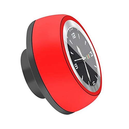 JVSISM Bicycle Headset Stem Watch Waterproof Watches Luminous Headset Stem Watch Bike Stem Top Cap Accessories-Red+Black 1
