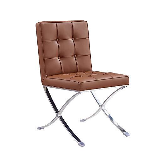 Poltroncina salotto Barcelona (replica) di Vivol - Pelle artificiale - sedia camera da letto e poltrona salotto - Cognac