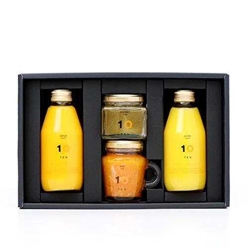 10FACTORY みかんジュース2種+みかんジャム+はちみつセット(ギフトボックス付き)